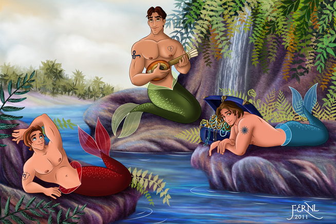 mermen_princes_by_fernl-d4kaf5y