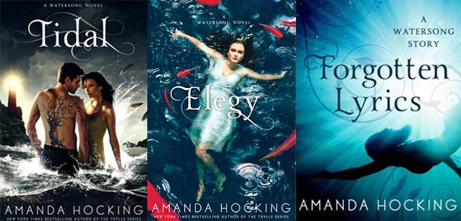 As capas norte-americanas dos dois últimos livros da série e do e-book Forgotten Lyrics.