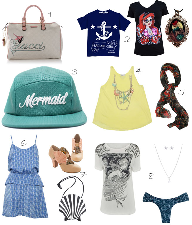 1. Gucci | 2. Inked Shop | 3. Cake Worthy | 4. Wildfox | 5. Hot Topic | 6. Dafiti | 7. Modcloth | 8. Renner