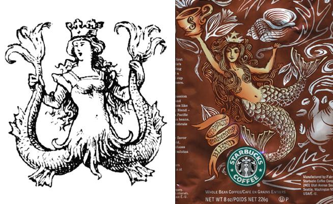 Ilustração de uma Melusina || Campanha publicitária do Startbucks