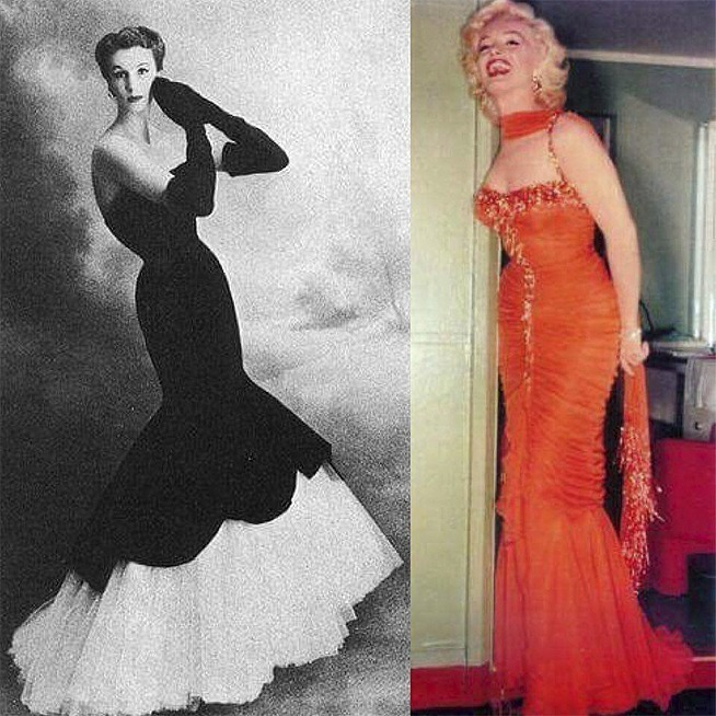 Barbara Goalen & Marilyn Monroe