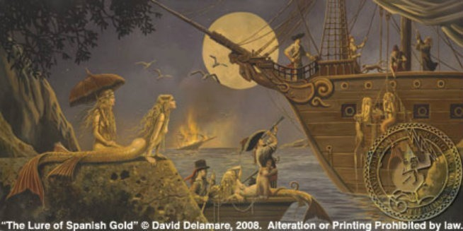 david delamare pirate ship mermaids