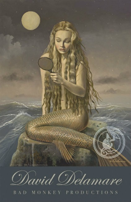 mirror poster mermaid david delamre bad monkeys