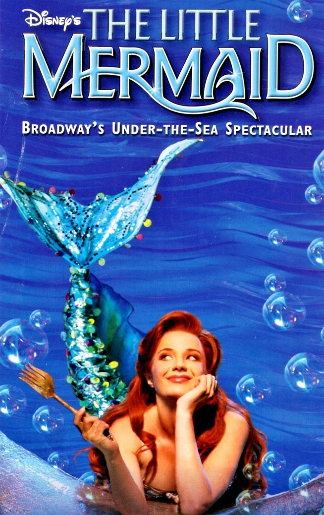 Pôster do musical original da Broadway com Sierra Boggess como Ariel